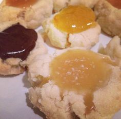 Thumbprint cookies three ways (including w/ salted whiskey caramel, which sounds amazing)