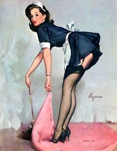 Elvgren, Gil (b,1914)- Clean Sweep, 1963 -2a