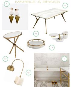 Marble and Brass