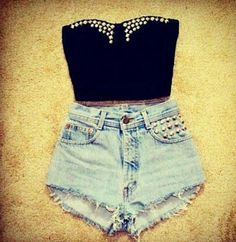 super cute! love high wasted shorts.  These are not high waist-ed because you're waist is only in one place.