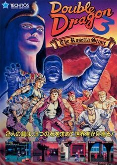 The Arcade Flyer Archive - Video Game Flyers: Double Dragon The Rosetta Stone, Technos Vintage Video Games, Classic Video Games, Retro Video Games, Video Game Art, Retro Games, Archive Video, Mundo Dos Games, Pc Engine, Rosetta Stone