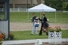 The end of the day packing up the judges boxes. — at The Kentucky Horse Park.
