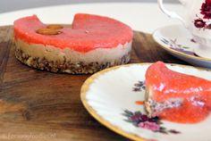 aardbei cheesecake zonder suiker en gluten