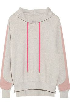 Preen Line Whisper hooded cotton-terry sweatshirt Love the sleeve detail.