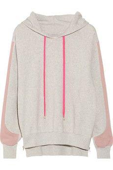 Preen Line Whisper hooded cotton-terry sweatshirt Love the sleeve detail.