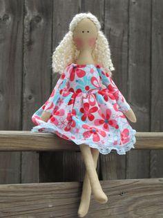Personalized doll cute fabric doll 18 doll in by HappyDollsByLesya