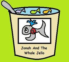 Jonah and the whale Jello... Swedish Fish in Blue Jello