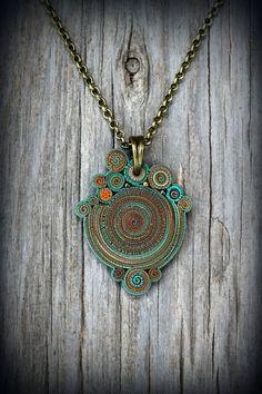 la joya Mandala collar boho joyería colgante tribal tierra azul encanto bohemio declaración nueva era hippie verano mujeres gitanas