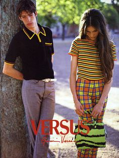 Versus 1996  Photographer : Bruce Weber  Model : Lonneke Engel  i want her outfit so bad