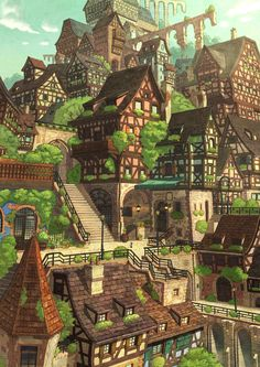 a recent anime background, if anyone can ID it, please do... UPDATE: artist Sayaka Ouhito