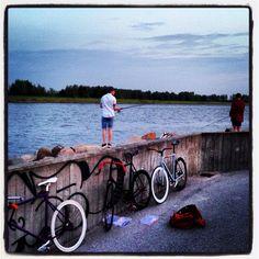 Fishing Copenhagen  Urban street bikes
