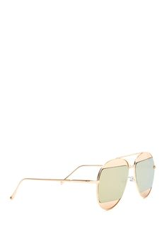 Split Second Mirrored Aviator Sunglasses ROSEGOLD