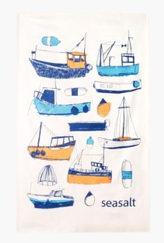 Teatowels inspired by Cornwall, designed by our talented, in-house, Seasalt…
