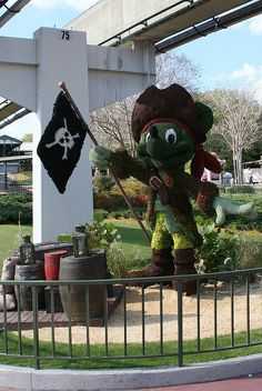 Pirate Mickey Topiary
