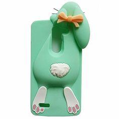 Jicheng Electronic LG Leon 4G Rabbit Case,3D Cute cartoon Buck Teeth Bunny Rabbit Silicone Back Cover Case for LG Leon 4G C40 LTE H340N H345 Green, http://www.amazon.com/dp/B0185WWIYA/ref=cm_sw_r_pi_awdm_VofEwb0NESSRA