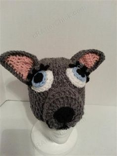 I love the mother wolf crochet hat. Perfect for playing dress up too. Mother Wolf Beanie Hat Crochet Pattern - Media - Crochet Me