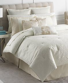 Martha Stewart Collection Marble Flowers 9 Piece Queen Comforter Set   Bed  In A Bag   Bed U0026 Bath   Macyu0027s
