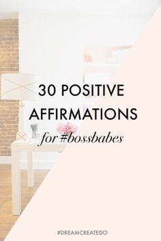 I've had loads of positive feedback from you guys saying how much you love my positive affirmation posts so I've rounded up another set for you - dedicated to #bossbabes everywhere who are committed t
