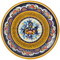 Talavera handcrafted plates by the renowned studio of Maximo Huerta. Handmade in Puebla, Mexico