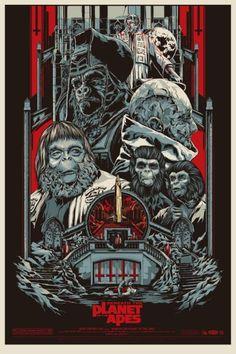Ken Taylor ilustrações poster cartaz filmes silkscreen Beneath the Planet of the Apes (De Volta ao Planeta dos Macacos)