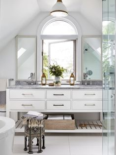 Global Glam Bathroom   Photo Gallery: Muskoka Cottages   House & Home   Photo by Donna Griffith