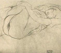 Study for Danae 1907 by Gustav Klimt