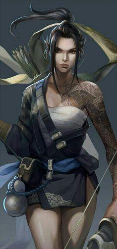 Female Fighter Archer - Pathfinder PFRPG DND D&D d20 fantasy