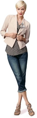 """One of my favorite outfits... Love the """"It"""" Jacket and Johnny Crops... this jean is absolutely perfect for Spring!"""