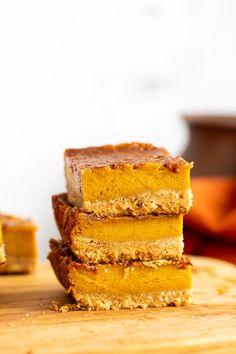 Vegan Pumpkin Pie Bars - Easy Recipe - Vegan Richa