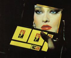 Mid-80's ad for Yves St. Laurent makeup