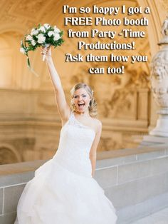 Want a free photo booth? Huge savings from Party Time Productions when you combine DJ and photo booth services! Receive $100 in discounts and 2 Free up lights in choice of color.  Save even more when you combine DJ and photography services - $250 in discounts and a FREE wifi photo booth! Stop by our booth and say hi at @brideshowpgh - January 16th and 17th - www.brideshow.com