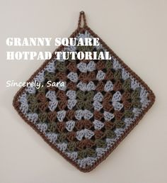 I creating a tutorial for a crochet hot pad. I hope it is understandable!