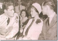 "Elvis Presley meets the queen and king of Thailand in 1960 during the filming of ""G.I. Blues."""