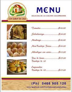 Deliciosa comida Colombiana a domicilio