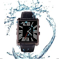 """Jieyutek Deluxe Edition Calfskin Belt Waterproof 1.5"""" 1.3MP Bluetooth 4.0 Smart Watch DM08 for Anti-Lost Calorie Sleep Monitoring Sedentary Reminder Management Sync Information Telephone Black. 1.5"""" inch LCD Panel Capacitive Touch Screen CPU: MTK2502; 108MHz Bluetooth : BT 4.0. NEW Smart Watch DM08 compatible with Samsung/iphone bluetooth smartwatch Sync with pedometer/sleep monitoring/Camera/recorder. It is not only a smart watch , but also a mobile phone.compatible with all Android &..."""