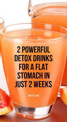 Natural Detox Drinks For A Flat Stomach In 2 Weeks - Diet & Weight Loss - Bebidas Detox, Diet Drinks, Healthy Drinks, Hard Drinks, Fruit Drinks, Fruit Smoothies, Beverages, Natural Detox Drinks, Home Made Detox Drinks