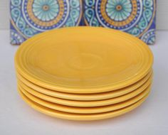 Vintage Fiesta Five Bread and Butter Plates Circa by FabsAndFaves, $27.00