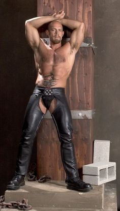 men Assless leather chaps