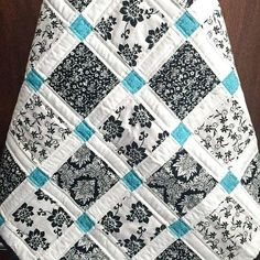 Black And White Coverlet King Black And White Striped Quilt Patterns Black And White Quilt Fabric Sale Modern Baby Quilt Black White And Teal Colors