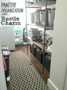 Pantry Organization: Rustic Charm! [Free Printables & $100 Walmart Gift Card Giveaway!]