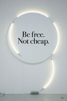 free not cheap