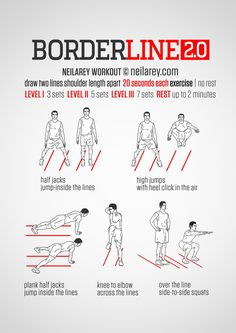 The only time a borderline workout can be improved is when it involves two lines, instead of just one. Now I know you think things cannot get any better but trust me, the moment you have two lines on the floor to deal with, the intensity of the...