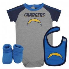 ea0ce433c San Diego Chargers NFL Infant Creeper Bib  n Bootie Set Chargers Nfl