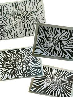 Dessin sur la ligne. Zèbres et tigres a l encre de chine. Creations, Art, Tiger Drawing, India Ink, Drawings, Projects, Art Background, Kunst, Art Education