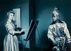 Gottfried Helnwein Art in America 2000 198 cm x 274 cm mixed media on canvas