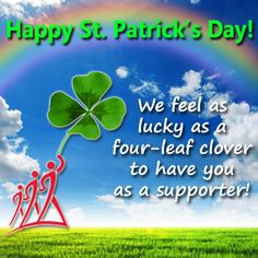 We are so lucky to have you as supporters! Happy St. Patrick's Day!