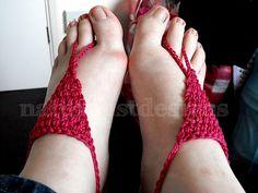Crochet barefoot sandal free pattern
