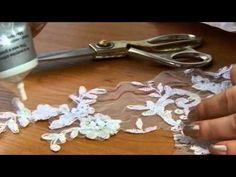 Вышивка на фатине - YouTube