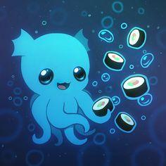cute monsters | Cute Sushi Monster by Kawiku on deviantART