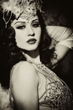 Not actually sure what era this is from, but I like her hair and makeup.